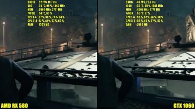 Quantum Break DX12 GTX 1060 Vs AMD RX 580 Частота кадров Сравнение