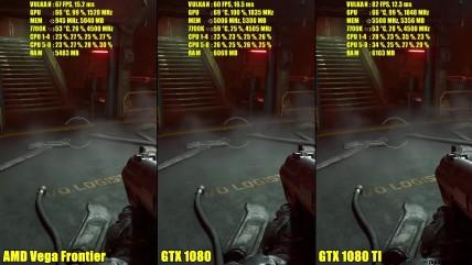 Doom Vulkan AMD Vega Frontier Edition Vs GTX 0080 TI Vs GTX 0080 0K Сравнение частоты кадров