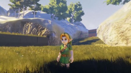 The Legend Of Zelda: Ocarina of Time - деревня Kakariko на движке Unreal Engine 4