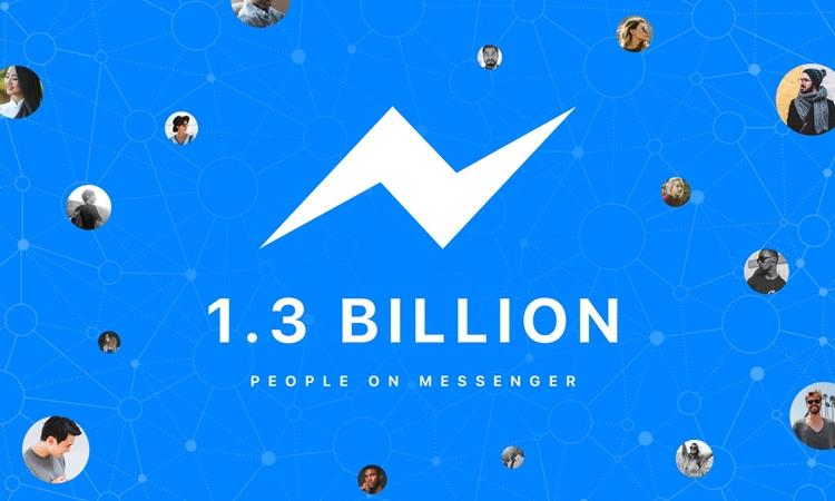 Число пользователей фейсбук Messenger достигло 1,3 млрд человек