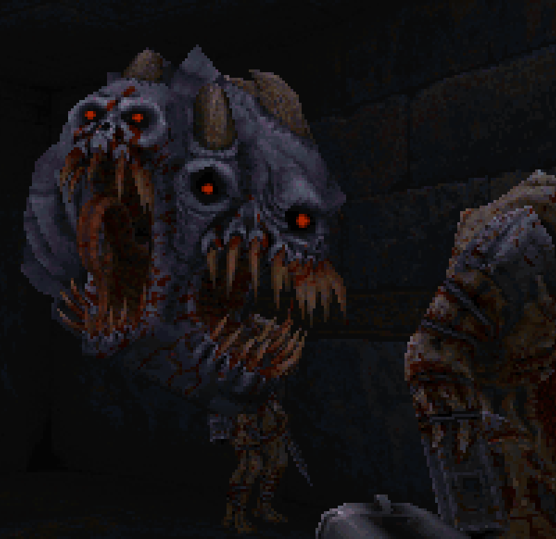 Та самая летающая тварь, похожая на элементаля из Doom 64
