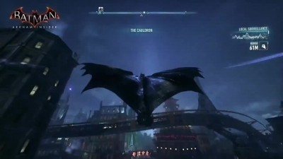 "Batman: Arkham Knight ""Бэтмен летает над ночным Готэмом""[С русской озвучкой]"