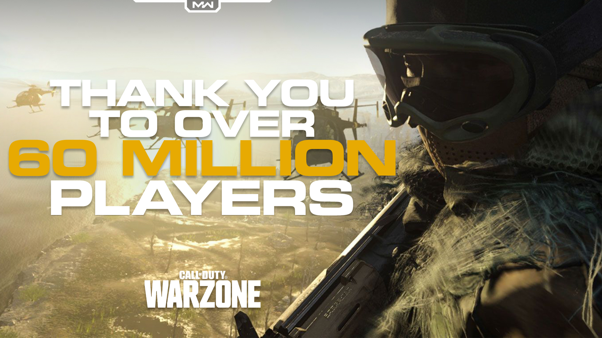 Call of Duty: Warzone насчитывает более 60 миллионов игроков по всему миру на всех платформах