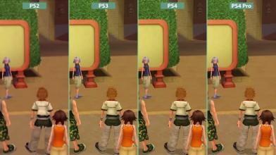 Сравнение графики Kingdom Hearts II - PS2 vs. PS3 vs. PS4 vs. PS4 Pro 4K UHD