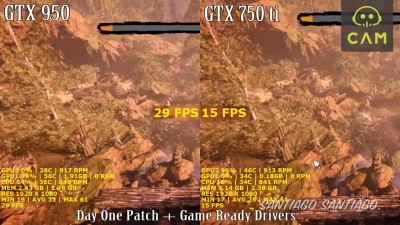 Far Cry Primal - GTX 950 vs GTX 750 ti