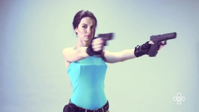 Lara Croft Косплей Tomb Raider's 20th Anniversary