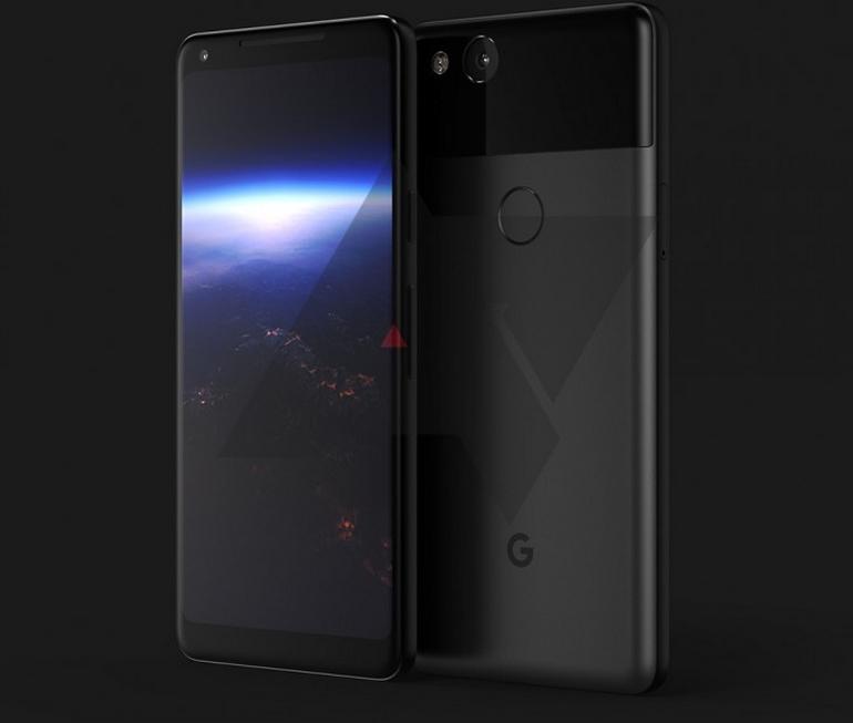 Изображения Google PixelXL 2017— чего ожидать отдизайна?