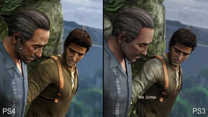 Uncharted 2: Among Thieves Сравнение PS4 vs PS3 (DigitalFoundry)