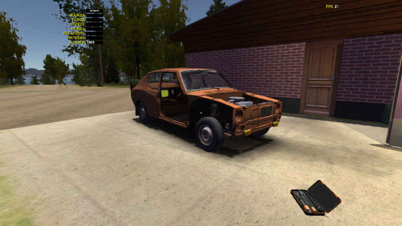 My Summer Car: Save Game (Assembled engine and suspension. 3K brands)