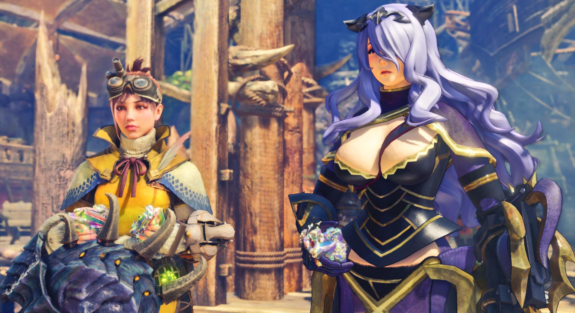 Моддер улучшил модель сексуальной Камиллы из Fire Emblem Fates в Monster Hunter: World