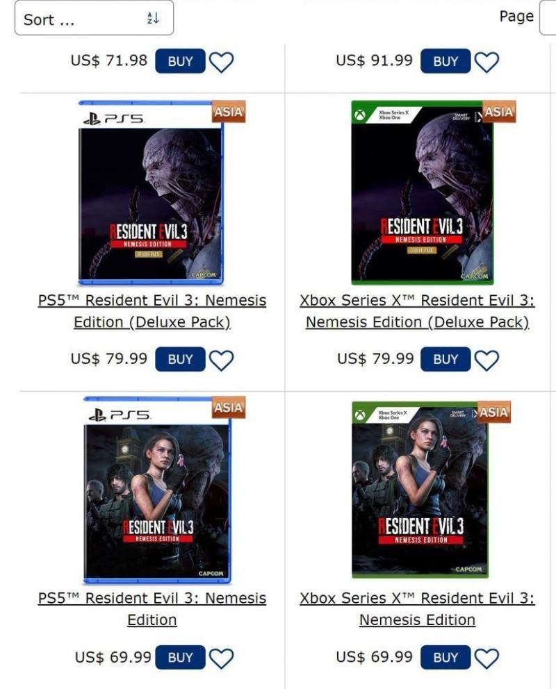 Слух : Новые подробности и обложки Resident Evil 3: Nemesis Edition