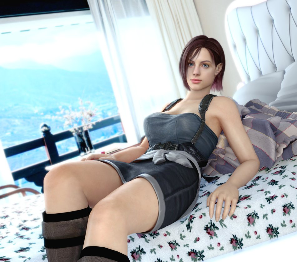 Jill valentine cosplay topless fucked video