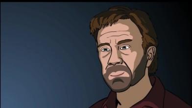 Забавное видео где Чак Норрис играет в слендера
