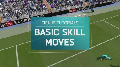 FIFA 16 Tutorial - Basic Skill Moves׃ Step Over, Ball Roll, Roulette