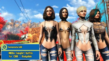 "Fallout 4 ""Одежда 'EasyGirl' / HN66s EasyGirl Outfits for CBBE - Bodyslide"""