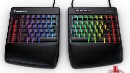 Механическая клавиатура Kinesis Gaming Freestyle Edge RGB разделена на две части