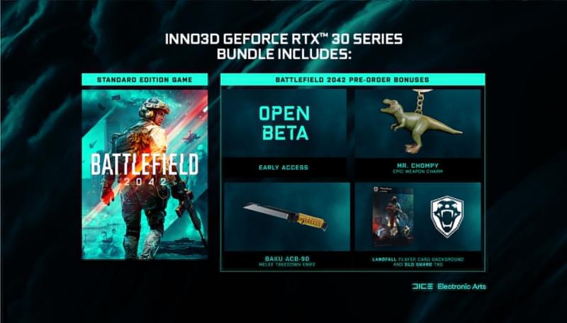 NVIDIA GeForce RTX 30 Game Bundle даст вам бесплатную копию Battlefield 2042
