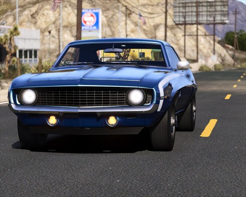 Автомобиль Chevrolet Camaro SS '69 для Grand Theft Auto 5.