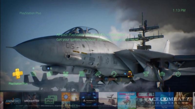 Ace Combat 7: Skies Unknown - Динамическая тема на ps4