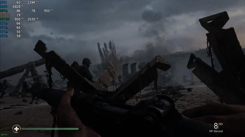 Call of Duty: WWII на слабом ноутбуке