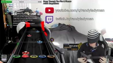 Самую сложную композицию Guitar Hero 3 прошли с закрытыми глазами