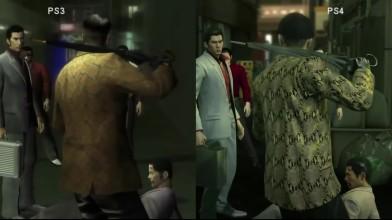 Yakuza HD PS3 vs PS4 Yakuza Kiwami / Ryu Ga Gotoku Kiwami сравнение графики
