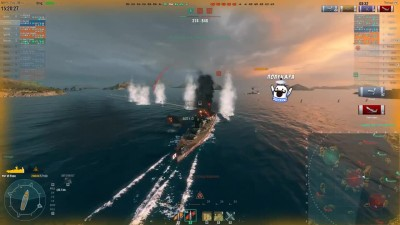 Вот так бой на Fuso. #Команда_живи. HEROtachanka. [World of Warships]