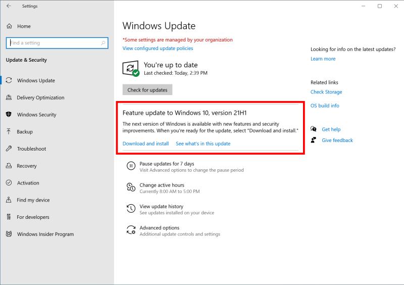 Microsoft готовится к релизу Windows 10 May 2021 Update (версия 21H1)
