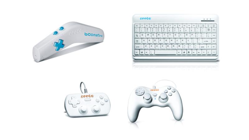 Геймпады и клавиатура подключаются по USB, для бумеранга нужен специальный ресивер