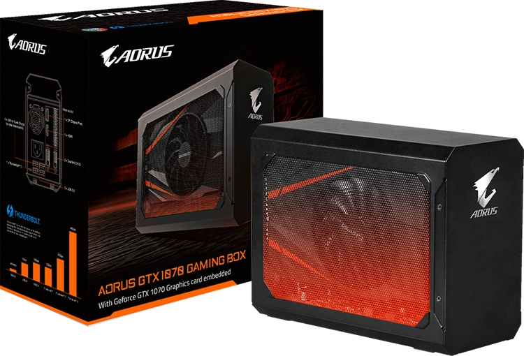 GIGABYTE представила AORUS GTX 1070 Gaming Box