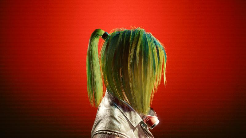 Toxic Green (20 цвет прически в Save Editor)