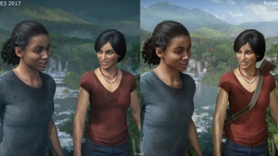 Uncharted The Lost Legacy E3 2017 vs Retail PS4 Pro 4K - Сравнение графики