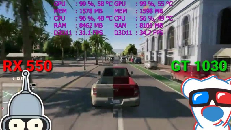 RX 550 vs GT 1030  Тесты бюджетных видеокарт в 4 играх