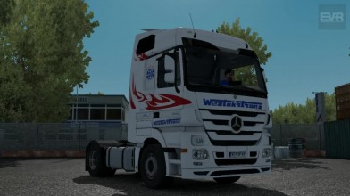 "ETS 2 ""Звук Mercedes Actros MP3 1844 Work in progress 4CH"""