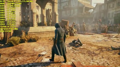 Assassins Creed Unity RX 570 4GB и 8GB RX 580 | 1080p FXAA / MSAA 2x | Фреймрейт ТЕСТ