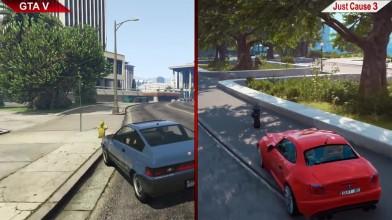 GTA V vs. JUST CAUSE 3 SBS COMPARISON 2 | PC | ULTRA Сравнение