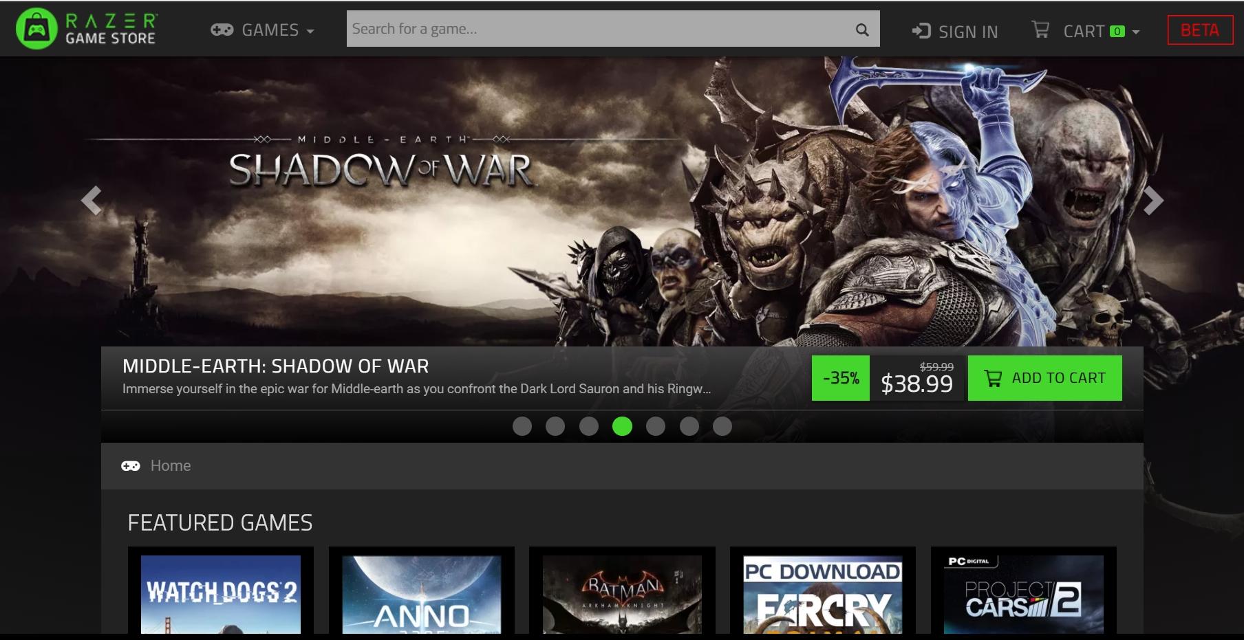 Razer запустила собственный магазин игр