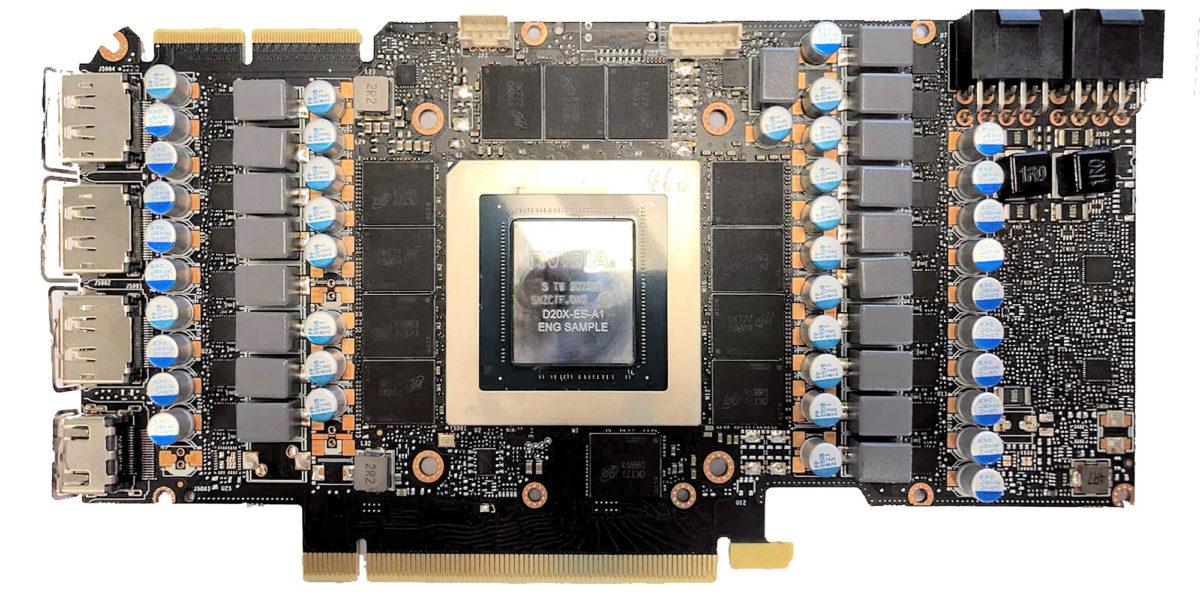 """""""Голые"""" референсные GeForce RTX 3080 и RTX 3090 на печатных платах нормальной формы"""