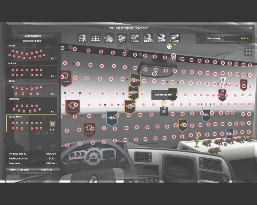 Скачать Мод На Euro Truck Simulator 2 На Аксессуары В Кабину Для - фото 6