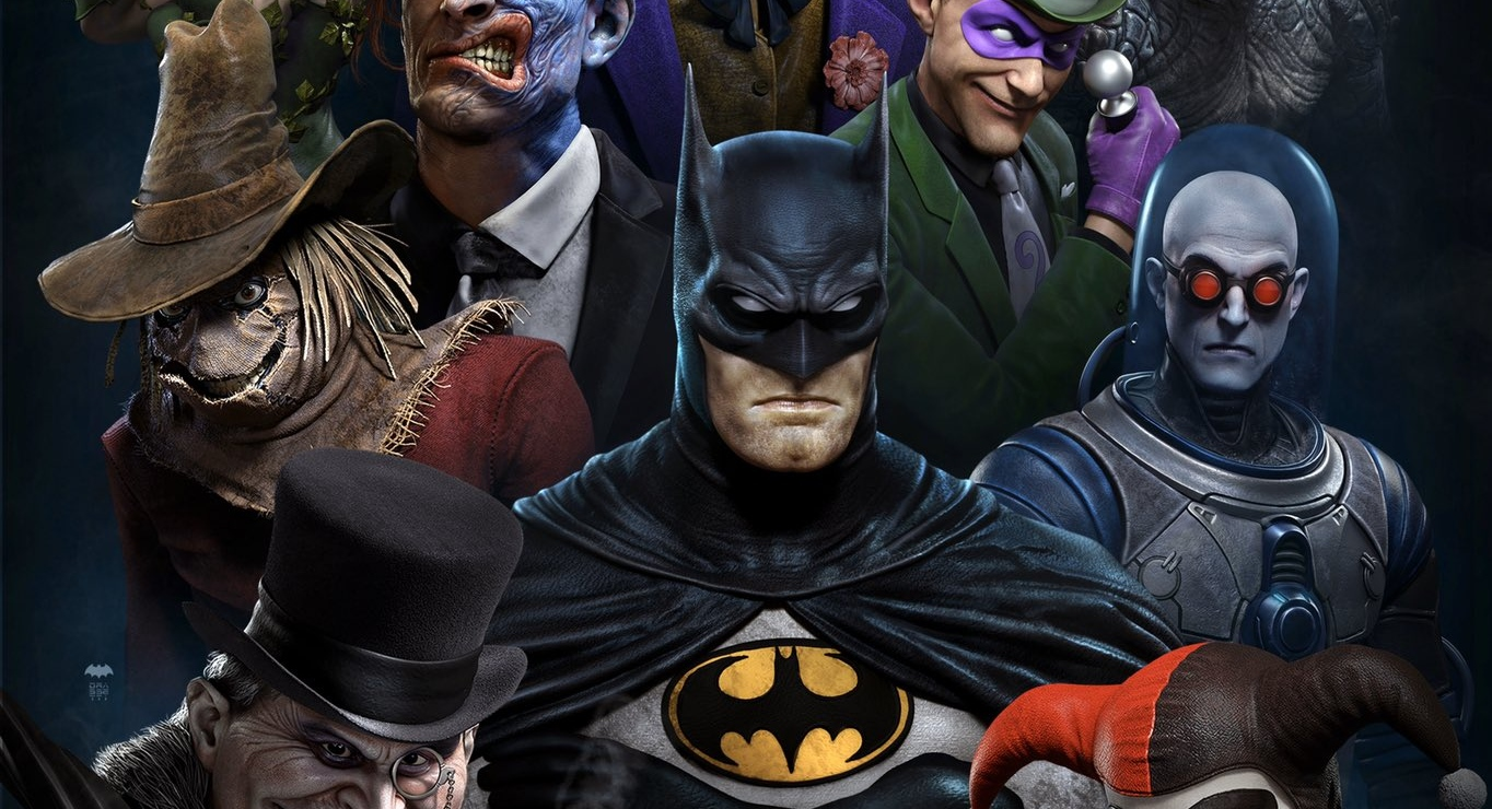 Арт-директор God of War перерисовал всех героев и злодеев мультсериала Batman: The Animated Series