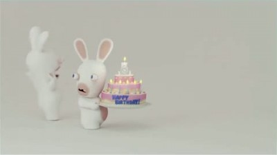 "Raving Rabbids: Travel in Time 3D ""Happy Birthday Trailer"""