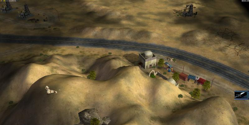 Гора с тропами и придорожный рынок, 1 платформа выше