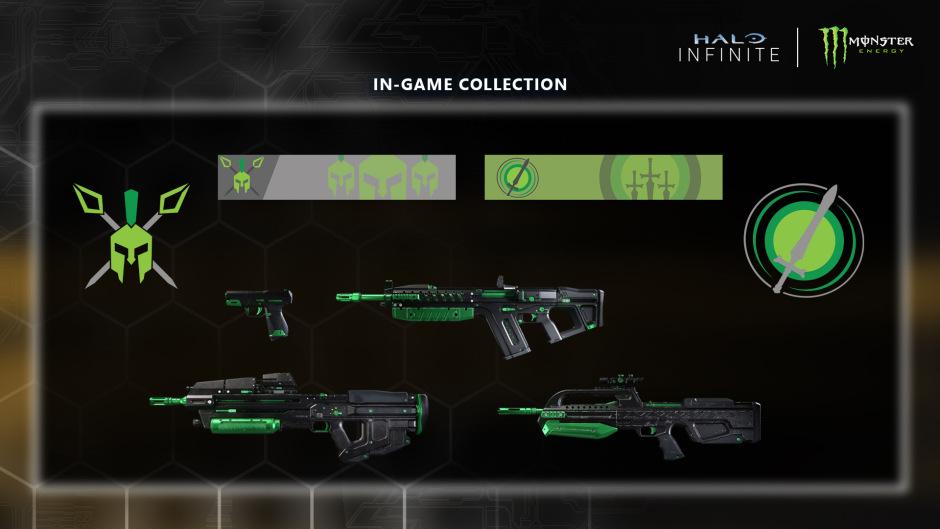 Для Halo Infinite раскрыли первые скины оружия в рамках партнёрства с Monster Energy