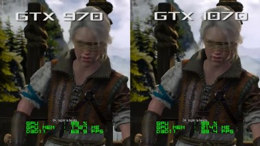 GTX 970 vs GTX 1070 - The Witcher 3