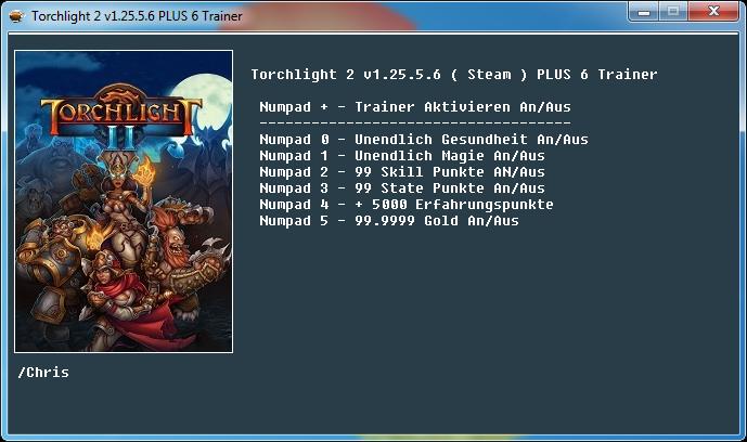 Torchlight 2: Трейнер/Trainer (+6) [1.25.5.6/Steam] {Chris}