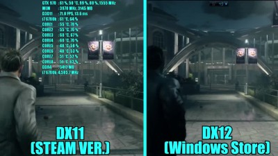 Quantum Break GTX 970 OC DX11 (Steam Ver.) Vs DX12 (Windows Store) | Фреймрейт Сравнительное испытание
