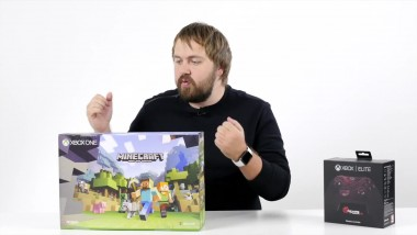 Распаковка Xbox One S Minecraft Edition