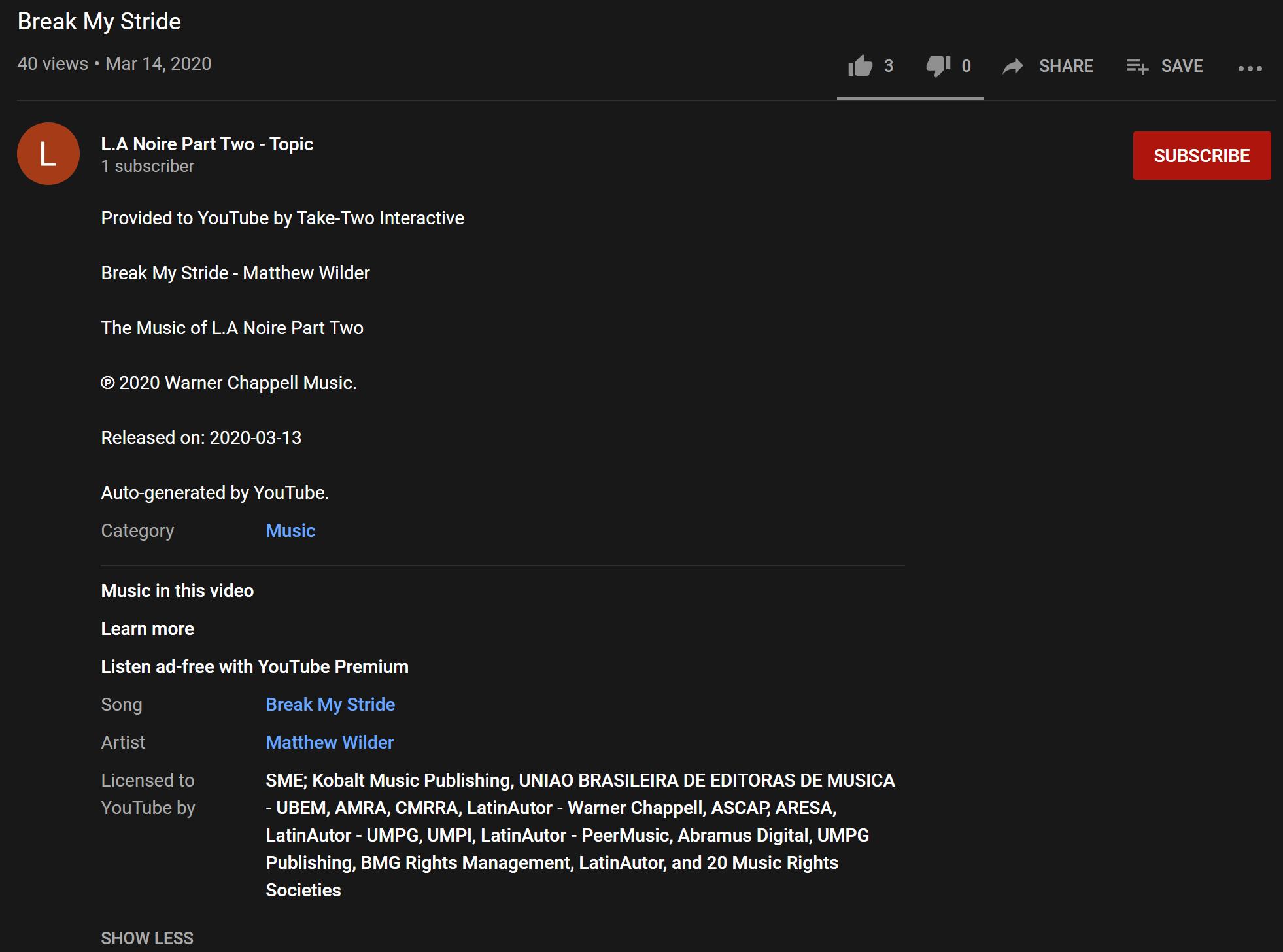 Сиквел L.A. Noire в разработке? Сегодня был обнаружен YouTube-канал 'L.A. Noire Part Two - Topic'