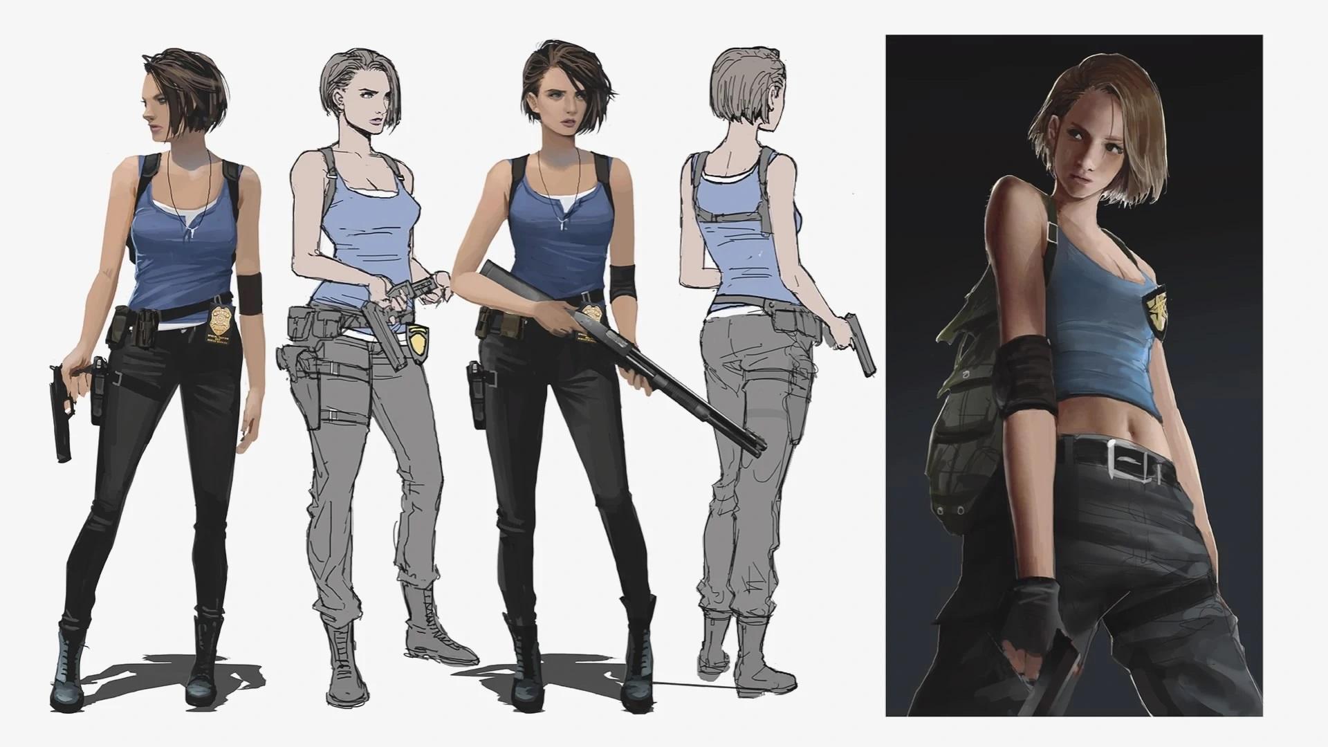 Концепт-арты ремейка Resident Evil 3