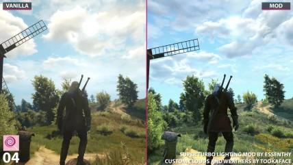 Пять визуальных модификаций для The Witcher 0: Wild Hunt